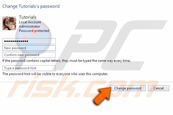 Add Change local accounts password step 8