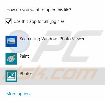 Open file in different app step 6
