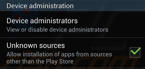 android disabling unknown sources app installation