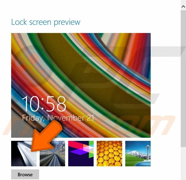 How to personalize lock screen background and profile picture in Windows 8.1 step 1