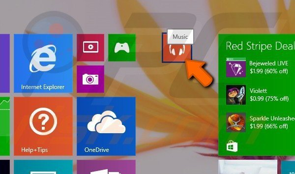 Creating app groups in Windows 8.1 step 3