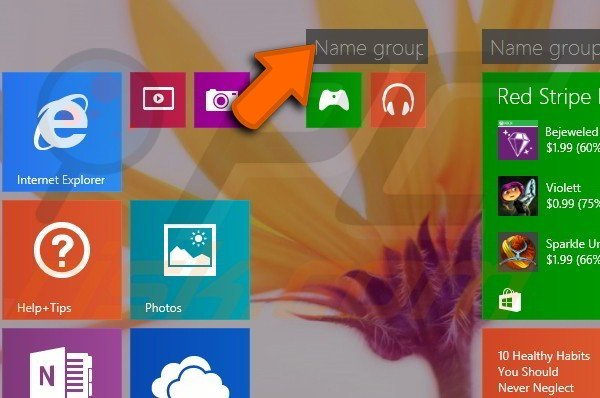 Creating app groups in Windows 8.1 step 6