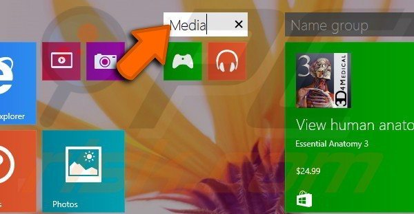 Creating app groups in Windows 8.1 step 7
