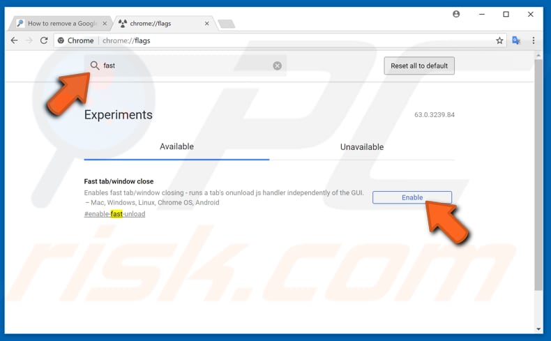 make your google chrome faster with experimental features step 2