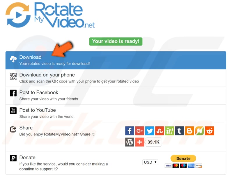 How to rotate a video in windows rotate video online step 3 back to table of ccuart Choice Image