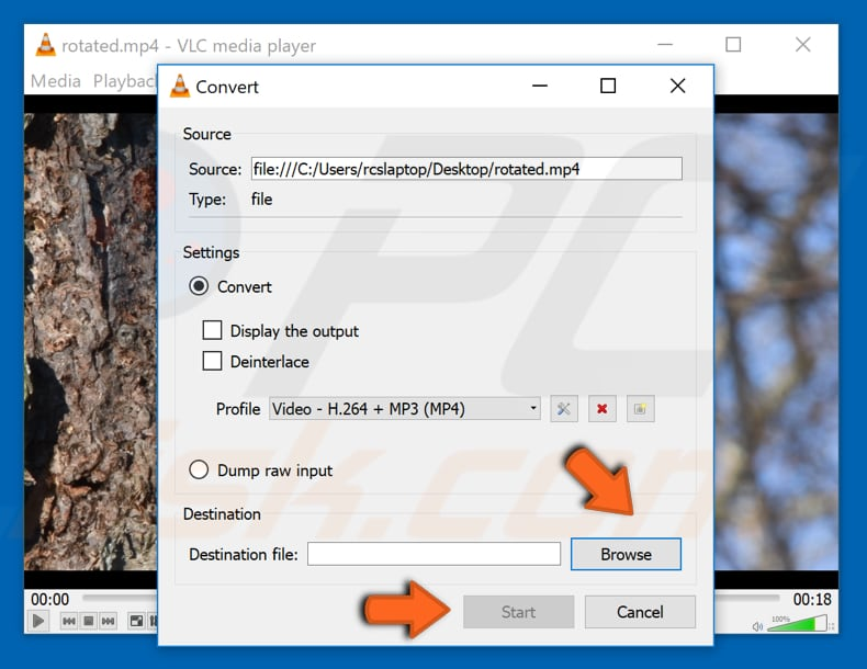 How to rotate a video in windows rotate video with vlc media player step 10 ccuart Images