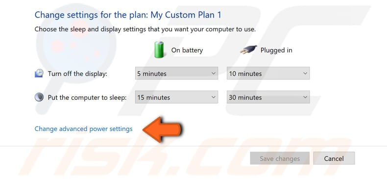how to customize power plan step 2