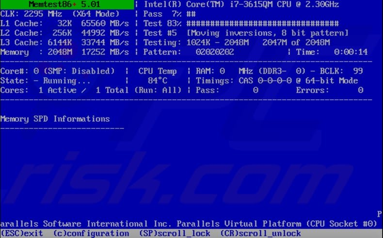 how to test your ram using memtest step 3