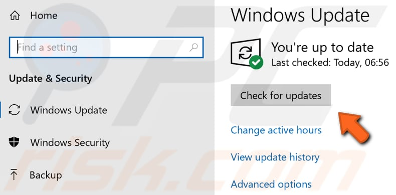 update windows step 2