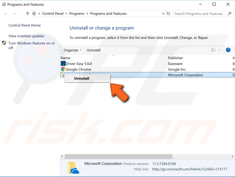 uninstall intel common user interface step 2