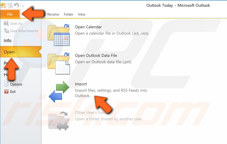 create new outlook profile step 6