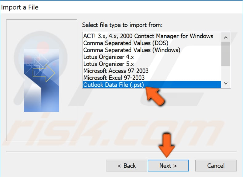 create new outlook profile step 8