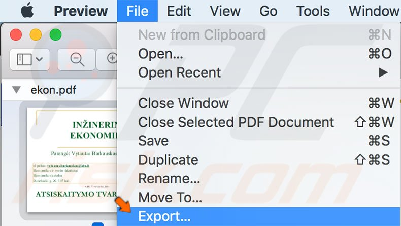 How to compress PDF files using Preview App on OS X and macOS?