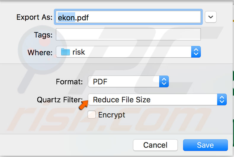 How to compress pdf files using preview app on os x and macos filter reduce size ccuart Images