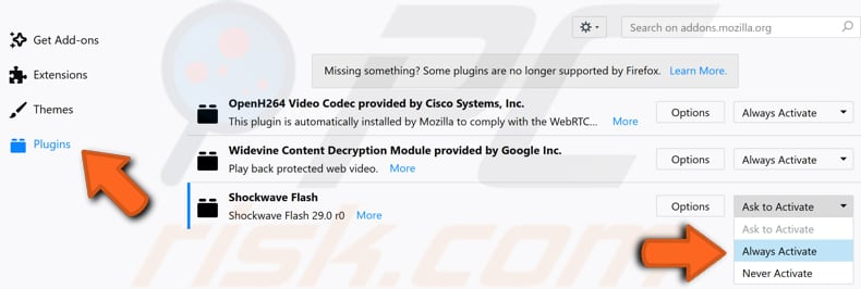 make sure that flash is enabled step 4