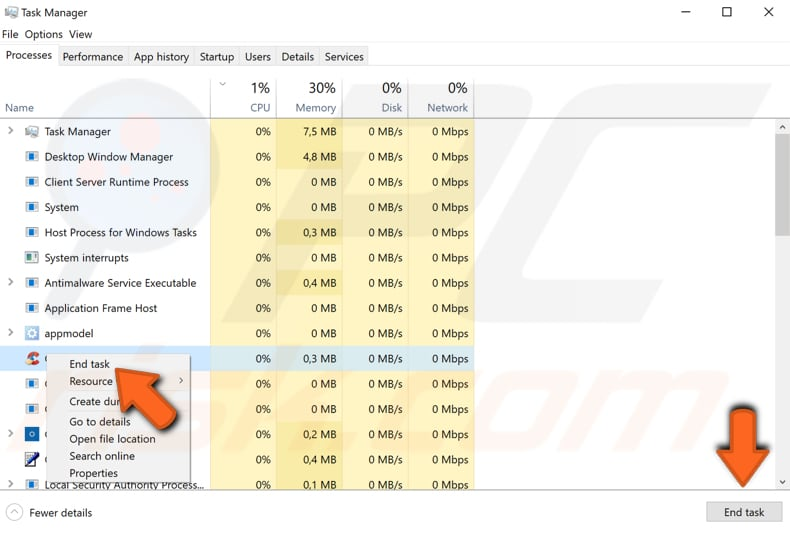 close programs using task manager step 3