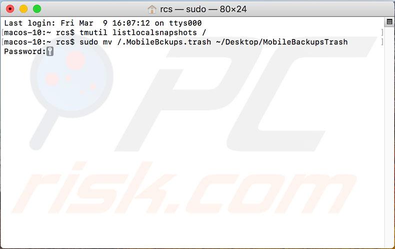 delete all time machine backups terminal