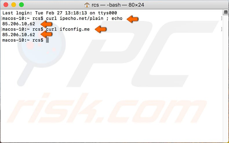 How to find out your IP address on Mac?
