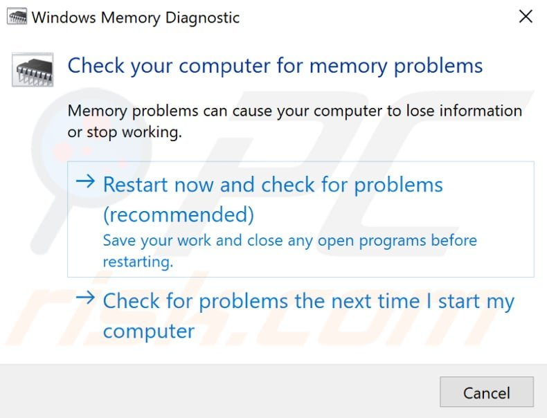 fix memory management error with diagnostic tool step 2