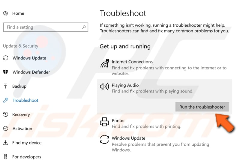run windows troubleshooter step 2