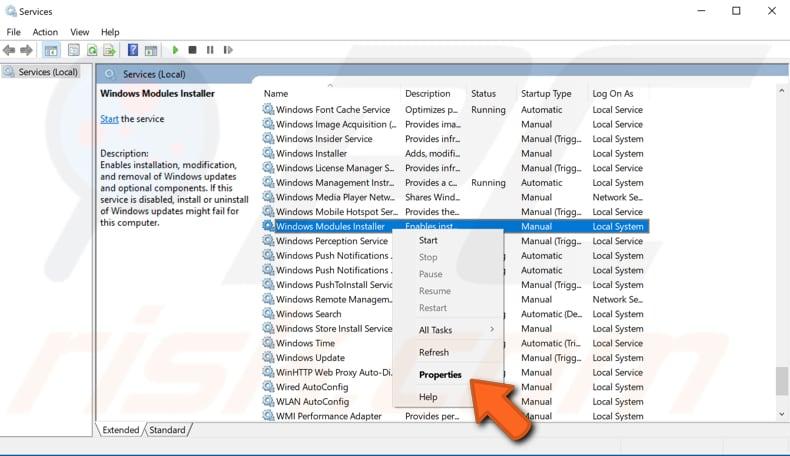 module installer windows 7