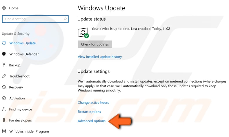 configure windows updates step 6
