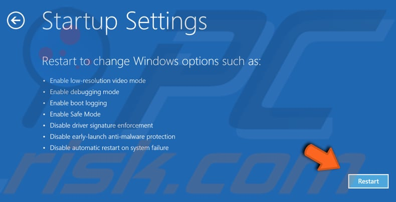 remove utcsvc.exe in safe mode step 5
