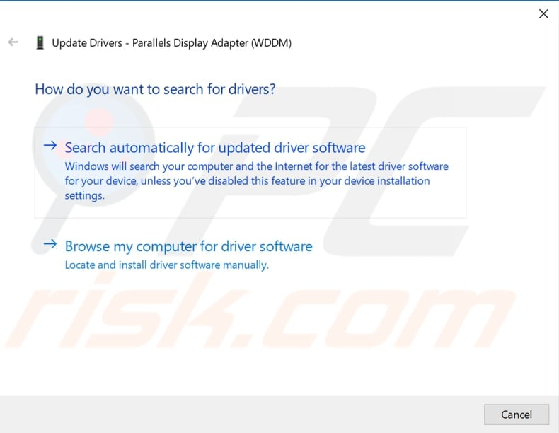 update display and network adapter driver step 3