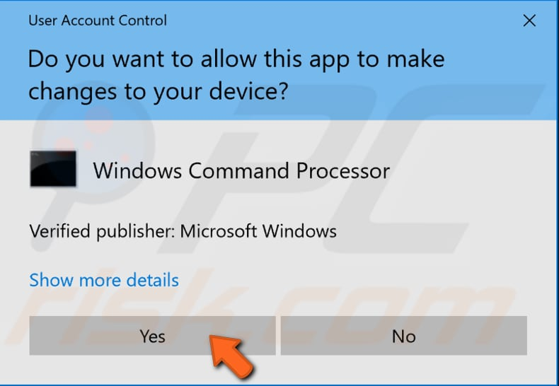 start elevated command prompt through search step 2