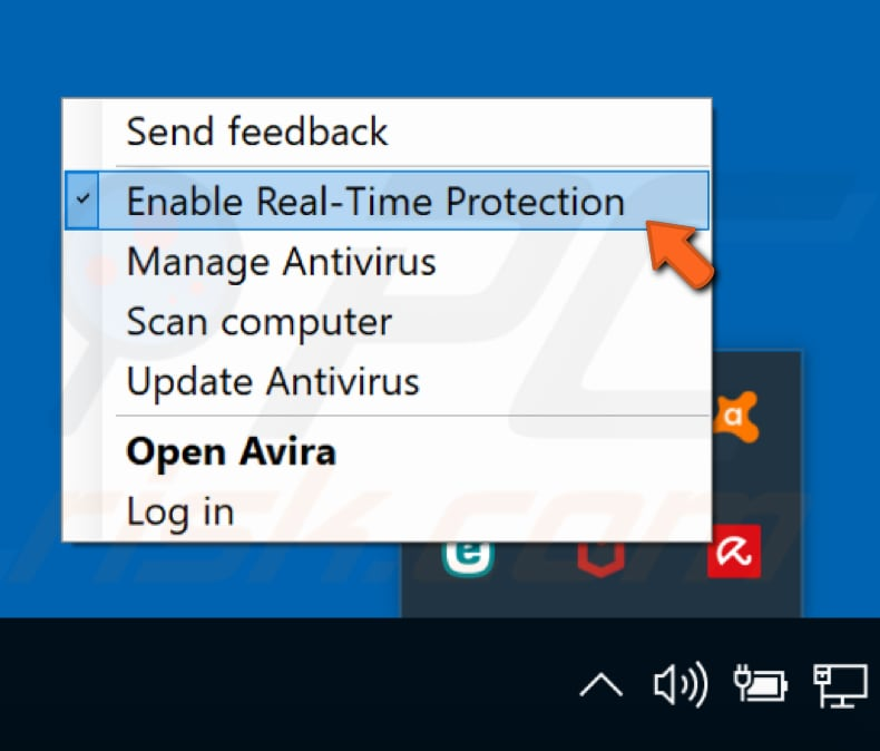 disable Avira antivirus