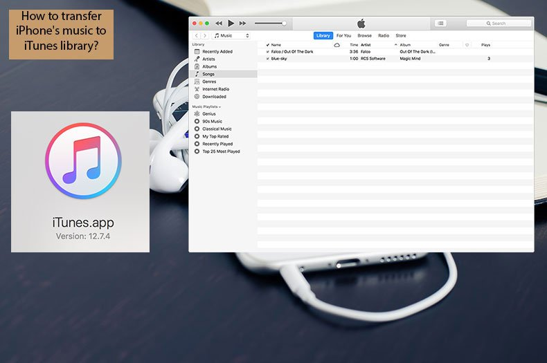 How to transfer iPhone's music to iTunes library?
