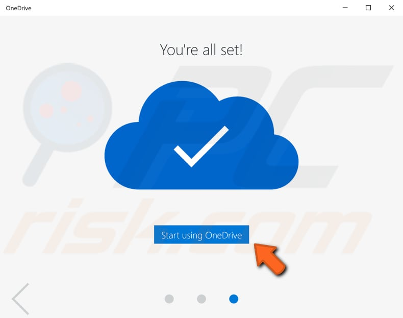 how to use OneDrive files on-demand step 2