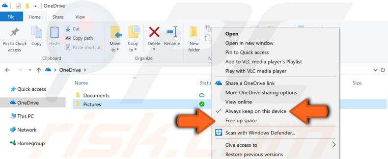 how to use OneDrive files on-demand step 6