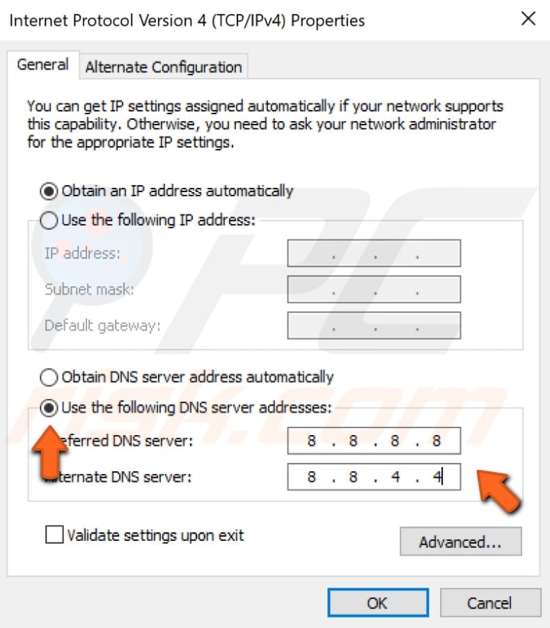 change dns settings step 5