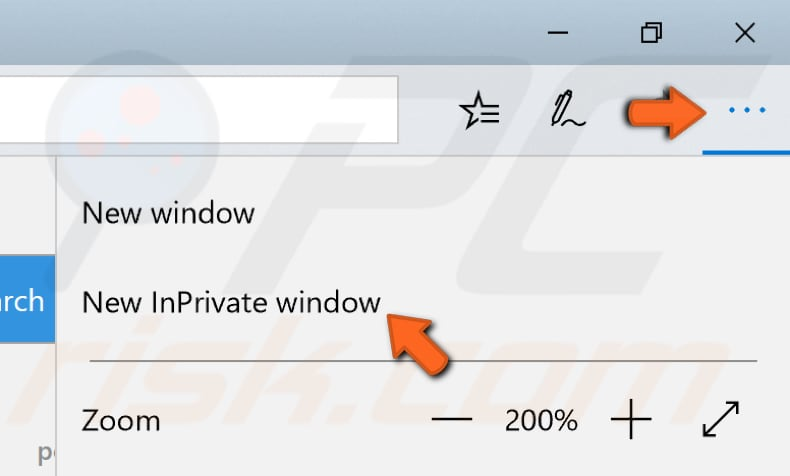 use inprivate window