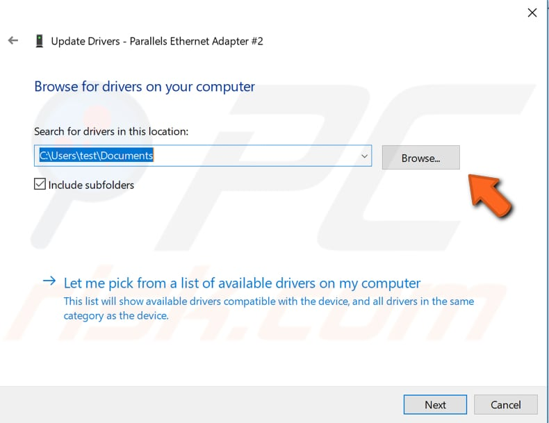 update network adapter driver step 4
