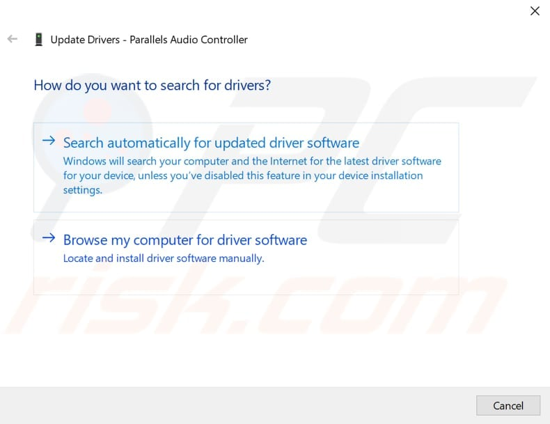 update audio drivers step 3