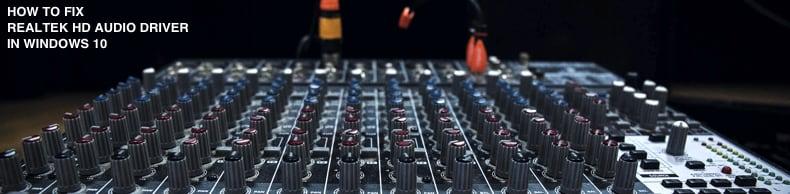 fix realtek audio driver windows 7