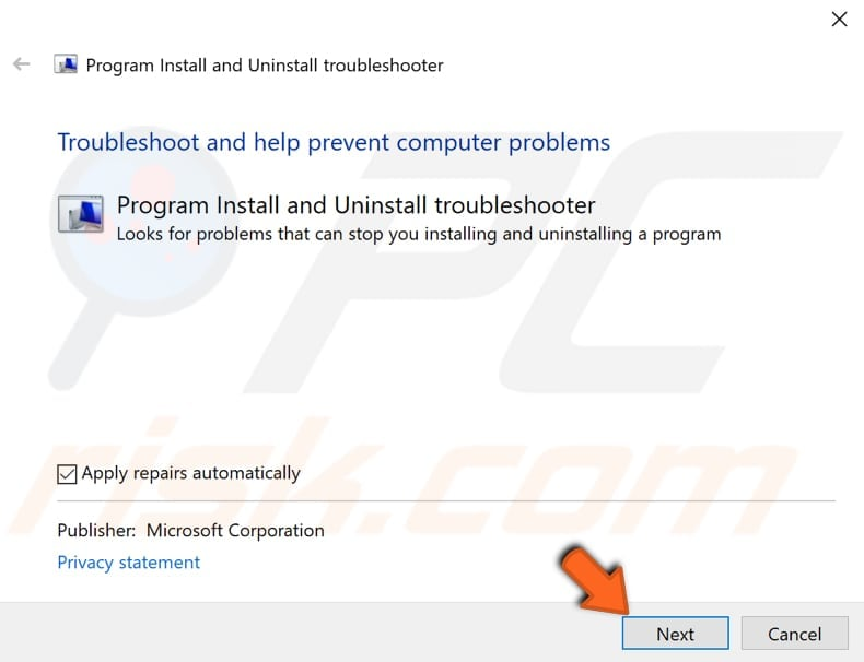 run windows troubleshooter