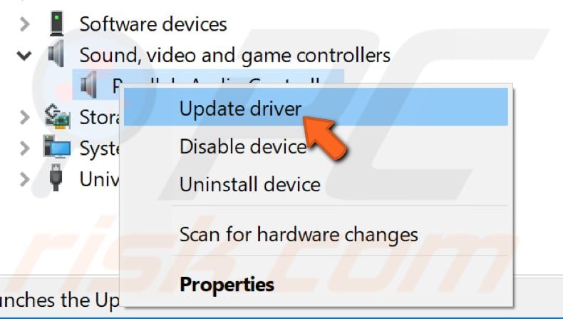 update audio drivers step 2