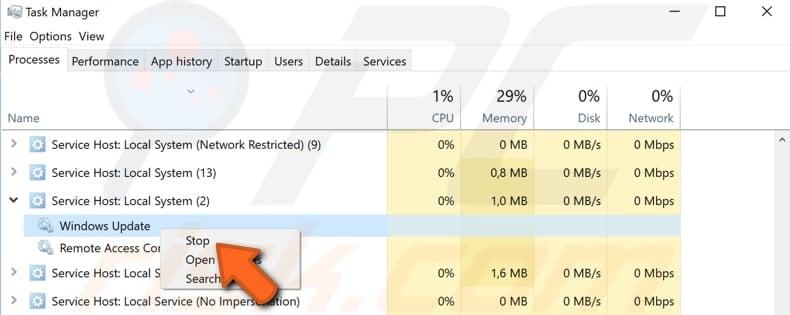 service host local system cpu usage windows 8