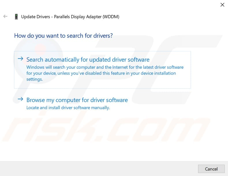 update device drivers step 3
