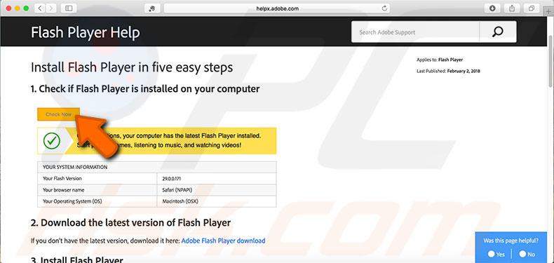 Uninstall Adobe Flash Player from Mac