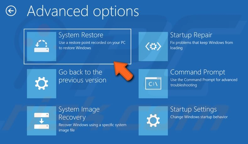 restore your system using restore points step 3