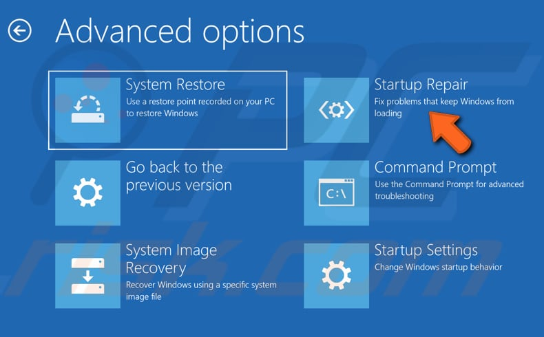 how to exit startup repair windows 7