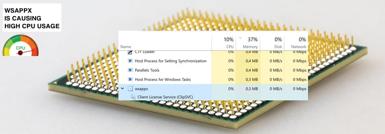 wsappx is causing high cpu usage