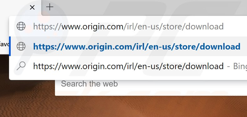 Go to the Origin download page