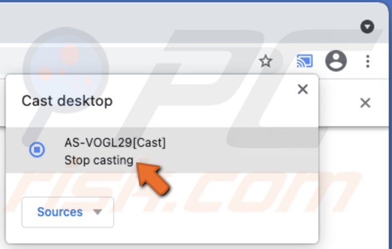 Stop casting Mac screen