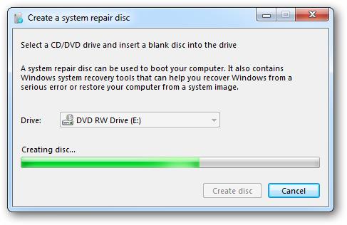 create windows 7 repair disk