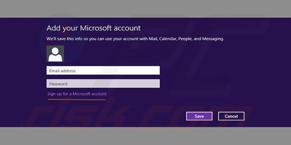 Adding Gmail to Windows 8 Mail app Step1 (log-in or register)
